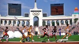 Marathon-Läufer bei den Olympischen Spielen 1984 in Los Angeles