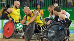 Paralympics - Finale im Rohlstuhlrugby, Australien gegen die USA © Bob Martin For Ois