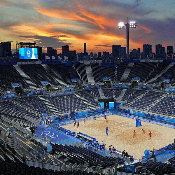 Das Beachvolleyball-Stadion in Tokio | imago images