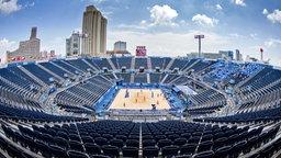 Das Beachvolleyball-Stadion in Tokio