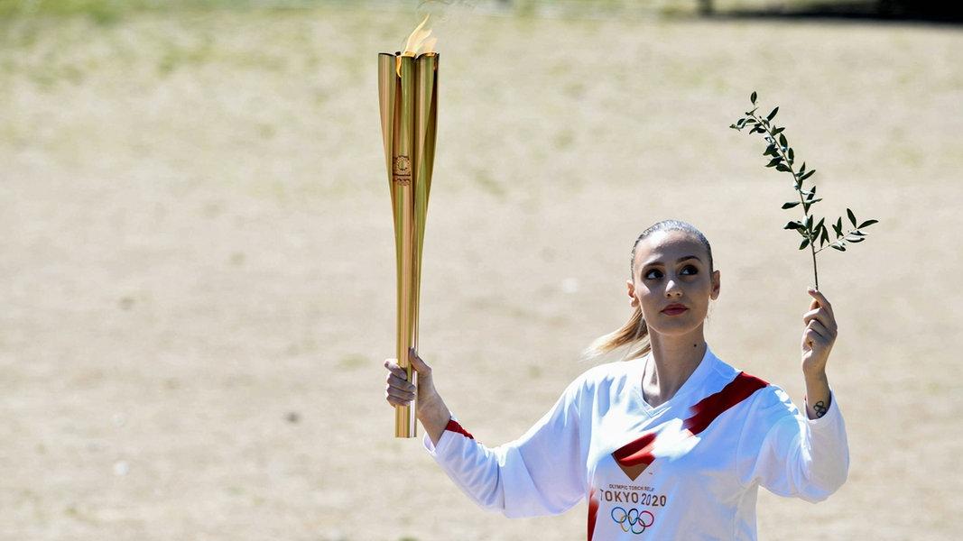 Olympische Fackel 2021