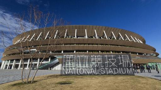 Das neue Olympiastadion in Tokio