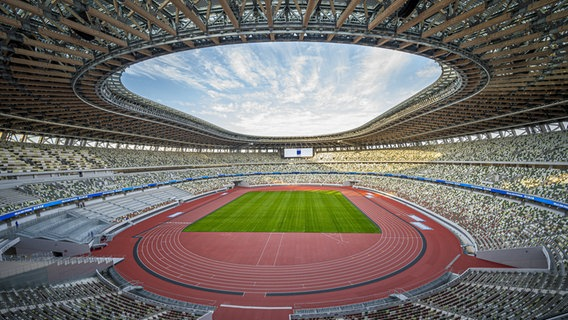 Blick in das Nationalstadion von Tokio. © picture alliance