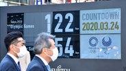 Countdown-Anzeige für die Olympischen Spiele in Tokio © imago images / ITAR-TASS