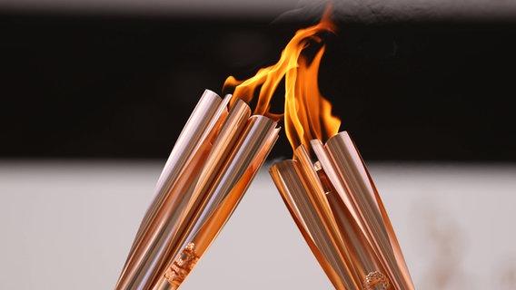 Die Ankunftszeremonie der Olympischen Flamme in Tokio © imago images/AFLOSPORT Foto: YUTAKA