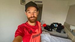 Der deutsche Radsportler Simon Geschke in Quarantäne