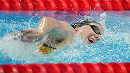 Deutsche Schwimmerin Isabel Gose in Aktion bei den Olympischen Spielen in Tokio