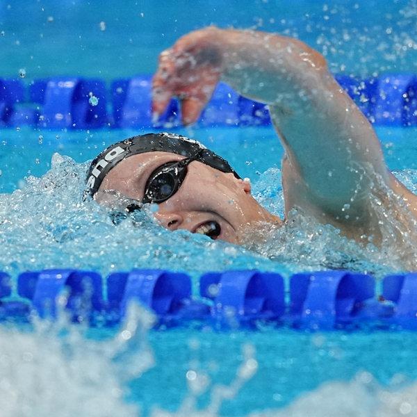 Die deutsche Schwimmerin Isabel Gose krault  | dpa