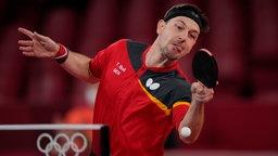 Tischtennisspieler Timo Boll in Aktion