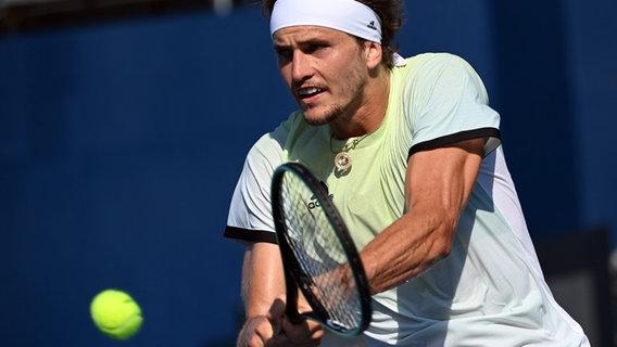 Deutscher Tennisspieler Alexander Zverev in Aktion © dpa/ Foto:  Marijan Murat