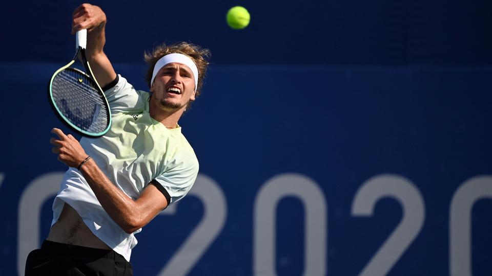 Deutscher Tennisspieler Alexander Zverev in Aktion | dpa-Bildfunk