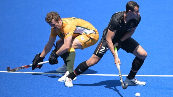 Matthew Guise-Brown (l) aus Südafrika und Timur Oruz in Aktion. © picture alliance/dpa