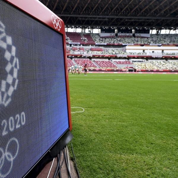 Olympische Spiele in Tokio, Blick auf Stadion | picture alliance