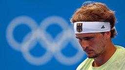 Der deutsche Tennis-Spieler Alexander Zverev ist enttäuscht.