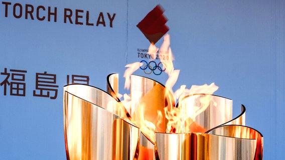 Olympische Sommerspiele in Tokio: Das olympische Feuer © imago images/ZUMA Wire