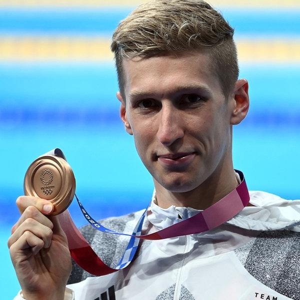 Der Bronzegewinner bei den Olympischen Spielen 2020 in Tokio Florian Wellbrock aus Deutschland  | dpa