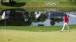 Der Golfspieler  Viktor Hovland aus Norvegen