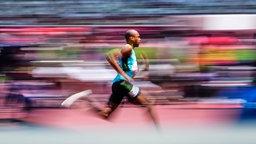 Bahamaischer Sprinter Steven Gardiner in Aktion