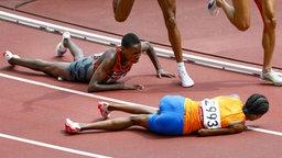 Niederländische Läuferin Sifan Hassan beim 1500 m Qualifikationsrennen