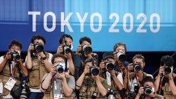 Fotografen bei den Olympischen Spielen in Tokio.