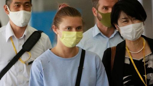Belarussische Sprinterin Kristina Timanovskaya reist ab