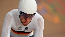 Der deutsche Bahnrad-Fahrer Roger Kluge in Aktion.