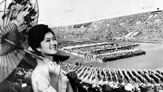 Eröffnungszeremonie der Olympischen Spiele 1964 in Tokio