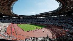 Blick in das Olympiastadion in Tokio.