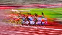 Athletinnen in Aktion