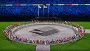 Die Abschluss·feier im Olympia·stadion in Tokio. © IMAGO / GEPA pictures Foto: MichaelMeindl