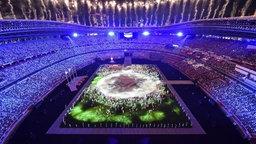 Die Abschluss-Zeremonie im Olympiastadion in Tokio