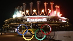 Feuerwerk am Olympiastadion