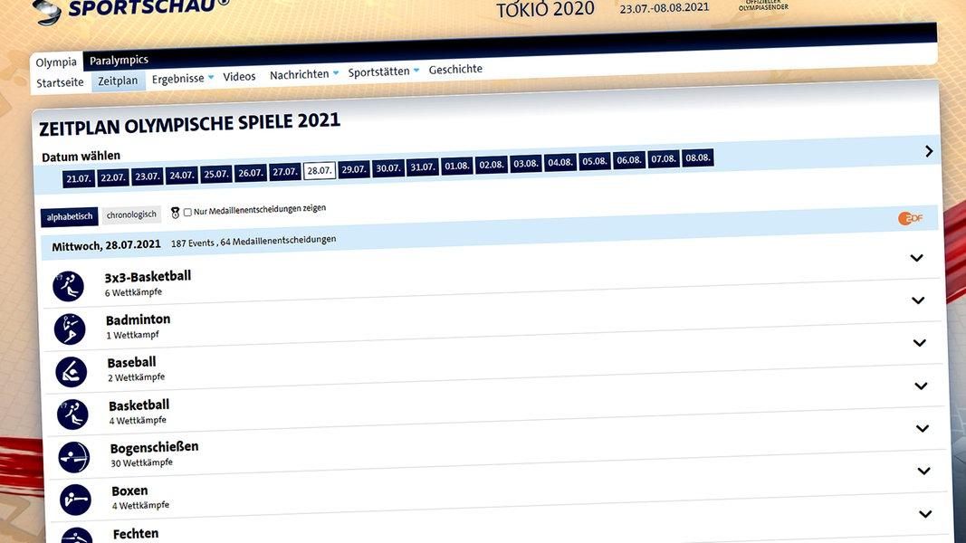 Ard Olympia Zeitplan